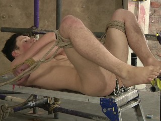Deacon stretches james with toys before fucking him...