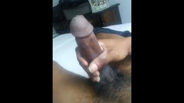 Caressing precum mess