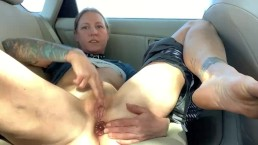 Getting Off in Parking Lot Butt Plug Orgasm