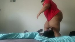 BBW enjoys jumping on and squashing husband