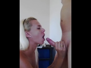 Blowjob With Cum Swallow – MissAnja.manyvids.com