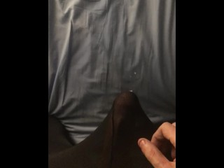 Solo male masturbating in tights