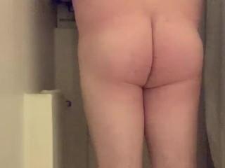 Shower jerk off chub