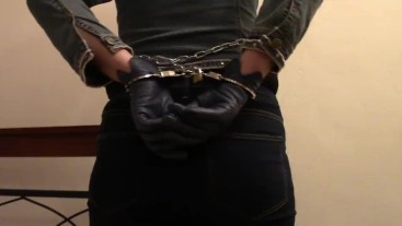 Handcuffed in jeans