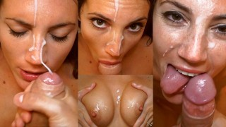 Two Cums in a Row After Party with Hot Brunette - MySweetApple
