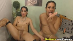 Shemale Couple Fucking Their Ass With Dildo