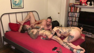 Her FIRST MMF Bisexual Threesome (FULL SCENE)