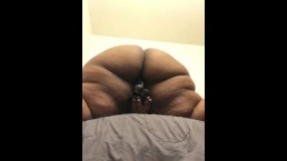 60' ass clap on 9 1/2 in dildo