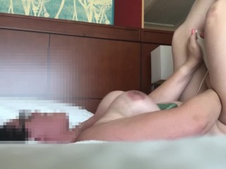 Big tittied wife gets slammed and tits bounce