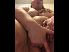 Pawg/BBW round 2! Fucking a toy & squirting. Super orgasm at the end
