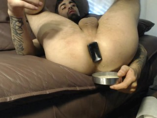 How much Creamie cum lube & anal drippings can My Butt Plugs make pour out?