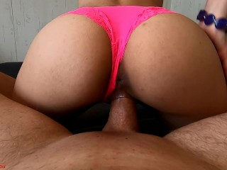 Young Beauty in Glasses Sucking & Fucking Cleans Cock After LittleDevil4You