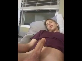 First time with fleshlight, hands free cumshot.