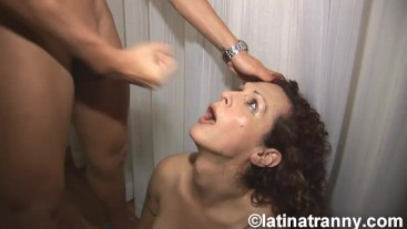 Nikki Montero and Fernadan Cristine T-girl cumshots in Mouth and anal rim