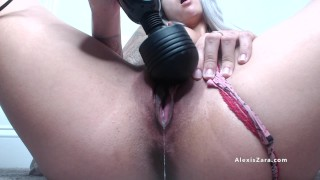 Hibachi and Hitachi 2 - Alexis Zara Eats and Treats Her Dripping Wet Pussy