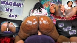PHAT Booty Ebony Throws Ass back On 6' Dildo -- Does size even Matter?