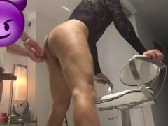 High heels dressed up slut sissy boy Pleasing Daddy