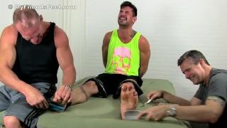 Hunk Dev & Daddy make sure Fiero will enjoy his tickle attack