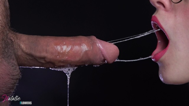 Piano playing penis - Very detailed close up,messy sloppy deepthroat and cum in mouth