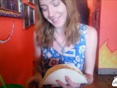 Taco Tuesday - Public Restroom Blowjob & Eating a Cum Taco