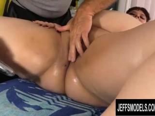 Perverted Old Masseur Pleasures Big Tittied Fat Tart Shanelle Savage