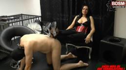 Weibliche Domination - femdom slave gets dominated in privat bdsm session