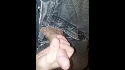Slow stroking part 1. Enjoying the pleasure of my hand on my big dick.