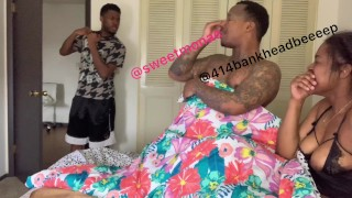 MUST WATCH!! Boyfriend walks in on ebony fucking 414bankheadbeeeep!!!