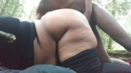 SLUTTY SEX ON THE HIKING TRAIL TILL WE GOT CAUGHT