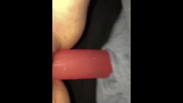 Girlfriend fucks Tight Wet Pink Pussy W/ Strap