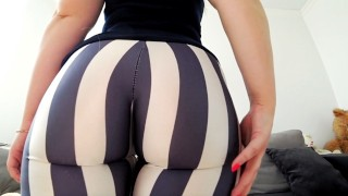 Screen Capture of Video Titled: Fuck through yoga pants