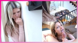 GERMAN SCOUT - STEP SISTER GINA CAUGHT BRO JERK AND HELP WITH BLOWJOB