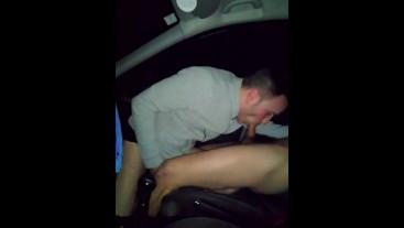 GAY SUCKING ME IN CAR!!
