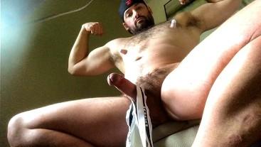 Shooting Cum Inside Sweaty Jockstrap After Gym