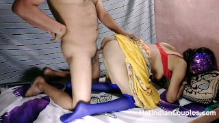Hot Indian Couple Fucking After Party Sexy Bhabhi In Yellow Saree