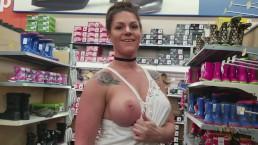 Embarrassed Walmart Public Nudity MILF Part 2
