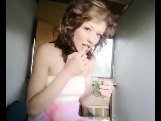 Sweet shy girl/sexy flash roxy roxy hi lo