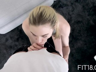Fit18 – 6 Feet Tall Model Gives In To Agent