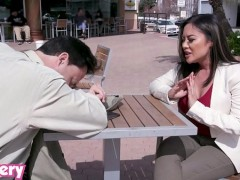 Trickery - Busty Asian babe Kaylani Lei cures heartache with anal