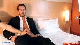 In suit Str8 male in gay porn !