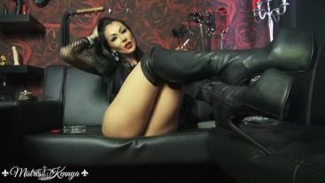 Mistress Kennya: Frustrating boot tease