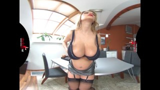 StockingsVR - Pregnant Katerina and her HUGE natural tits