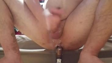 Using stepmom's dildo, hard cum