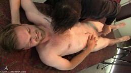 Direct prostate stimulation drained the precum from Loras' cock