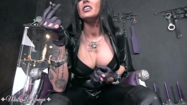 Mistress Kennya: My cigar is your timer so wank fast bitch