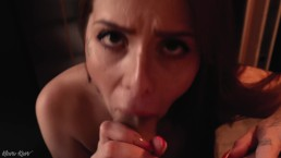 SLOPPY WET BLOWJOB ASMR with cum on my Face and Tits.