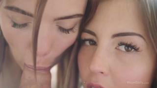 WOWGIRLS.COM Two 18 yo exceptionally hot girls seduce nerd into threesome!
