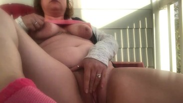 Masturbating by a busy road
