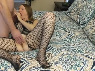 Crotchless Fishnet Pantyhose Submissive Hottie Posed And Fucked Hard In Crotchless Bodysuit, Amateur