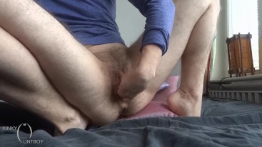 Fisting my hairy pussy